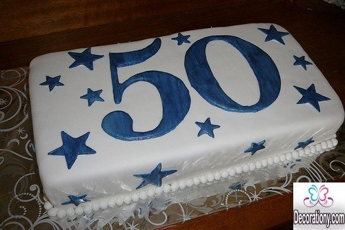 Fabulous 13 Impressive 50Th Birthday Cakes Designs Decor Or Design Personalised Birthday Cards Veneteletsinfo