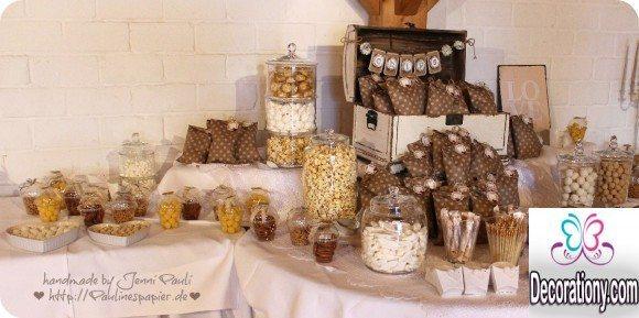 Brown candy buffet wedding