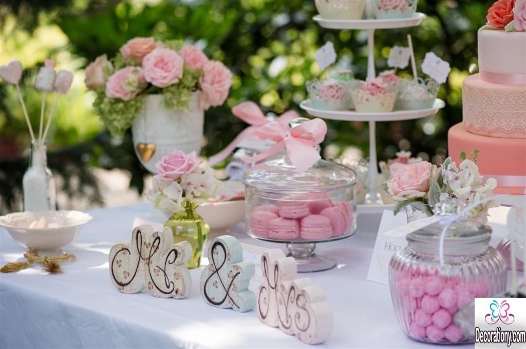 Mr & Mrs candy buffet wedding