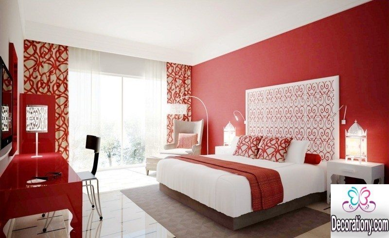 Red bedroom painting ideas