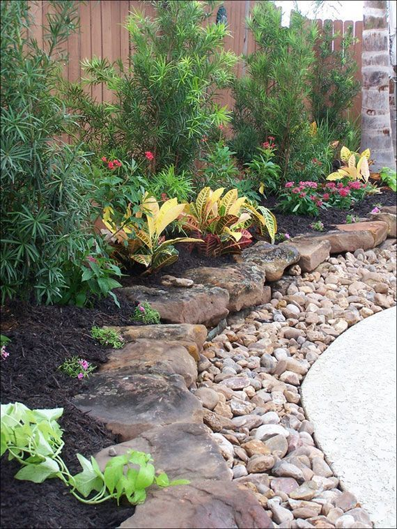 backyard design with rock