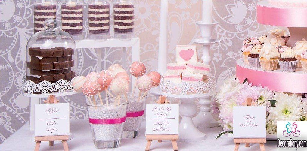 beautiful candy bar wedding