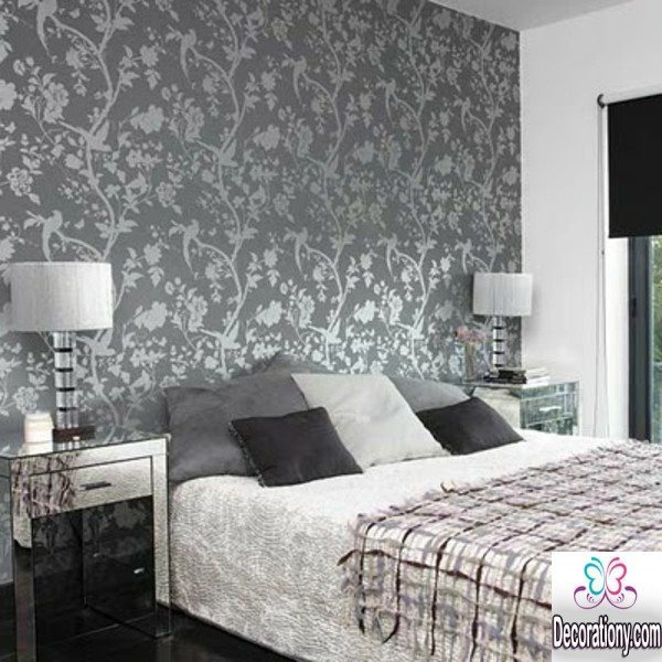 Top 20 grey bedroom interior designs decoration y for Dark grey bedroom wallpaper