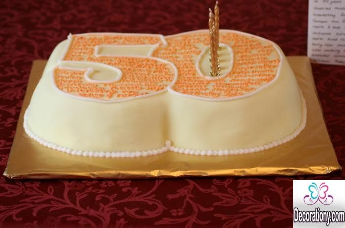 birthday cake for 50th
