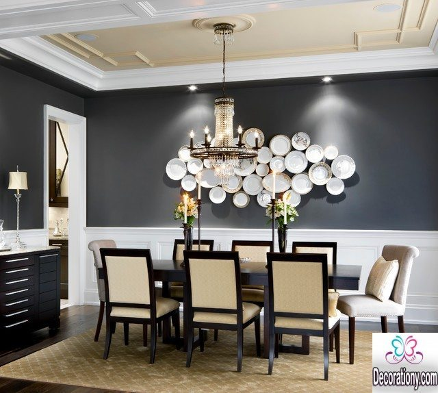 black dining room paint color