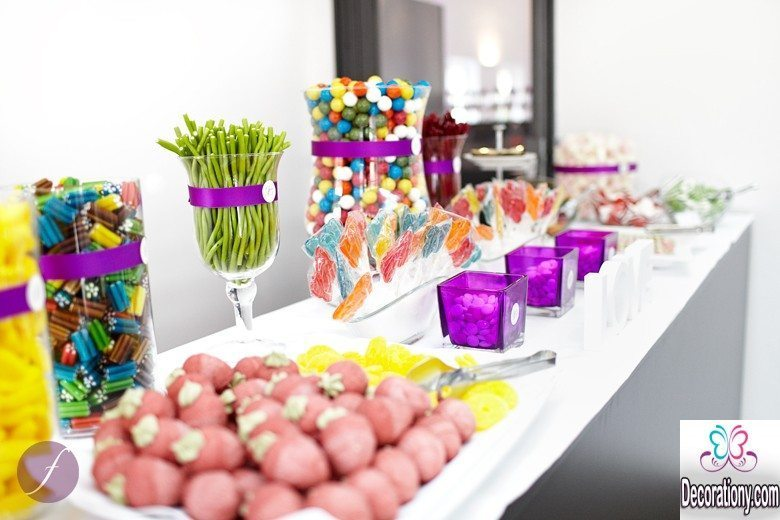 25 fluffy candy bar idea for wedding buffet decoration y. Black Bedroom Furniture Sets. Home Design Ideas