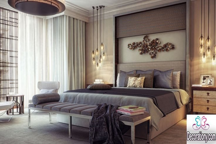 contemporary grey bedroom
