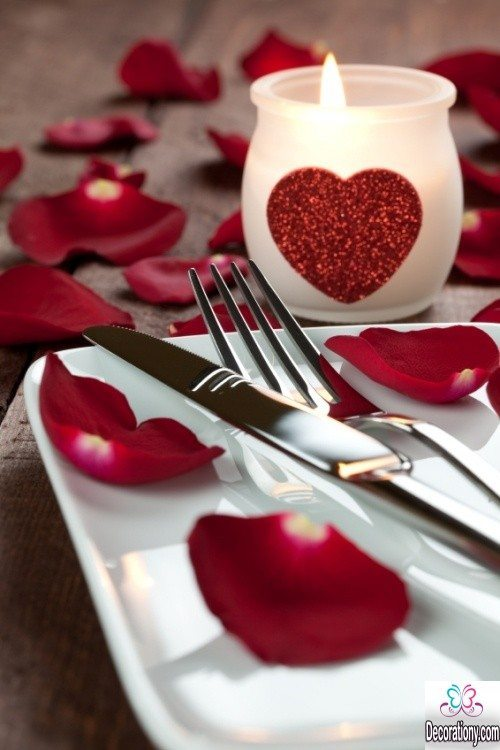 dining table decorating ideas in valentine