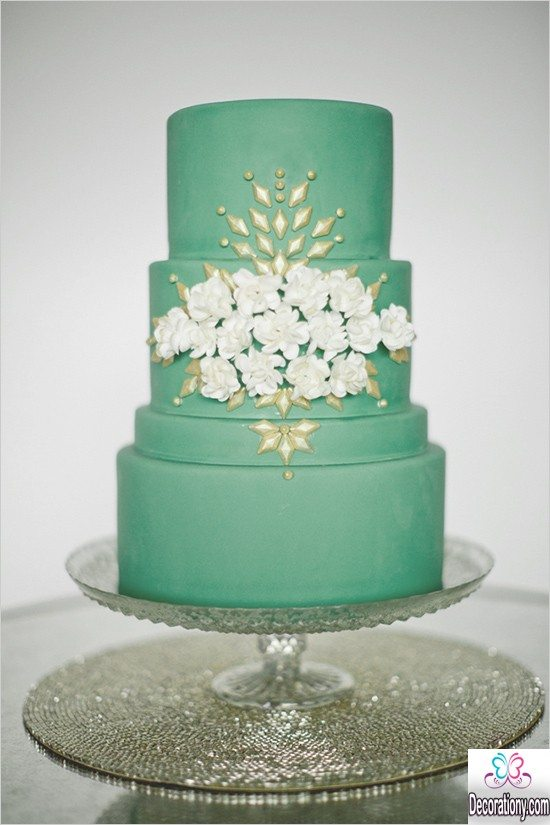 2016 Green marriage Cake Ideas