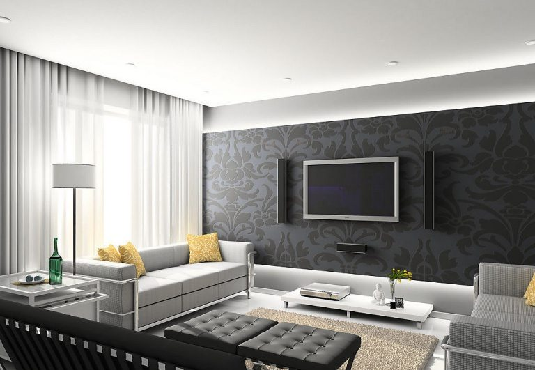Living Room Designs in Gray
