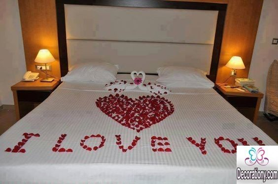 i love you bed decorating ideas