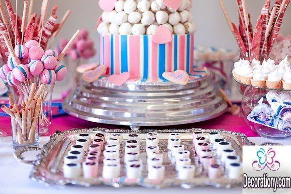 pink candy bar wedding