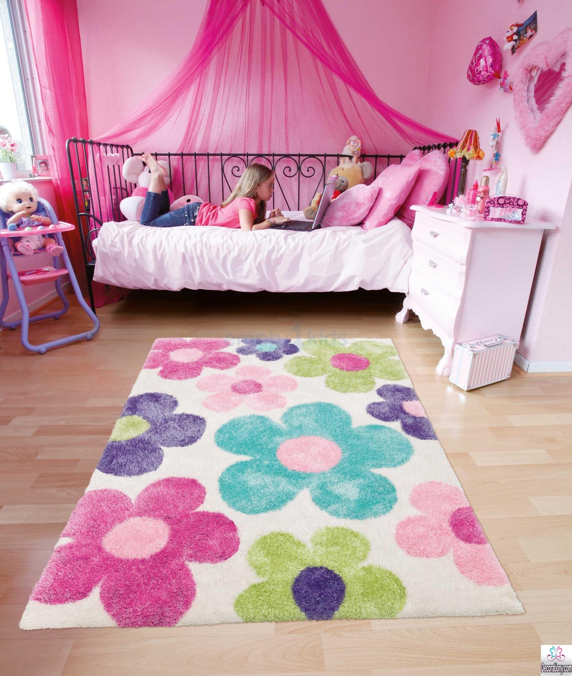pretty rugs idea for girl