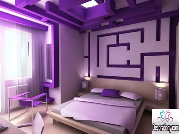 purple bedroom painting ideas