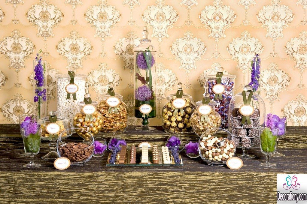 purple candy decorating