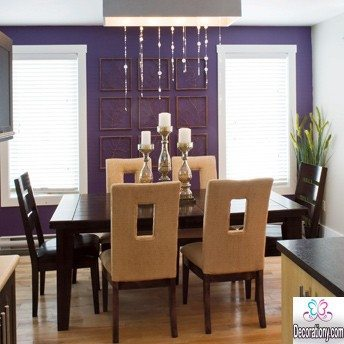 purple dining room wall idea