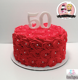 red birthday cake for adult