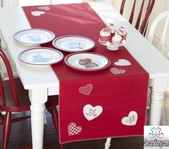simple valentine's day decor in red 2017