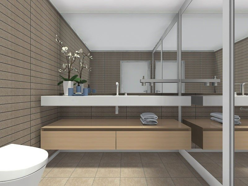Large storage for small bathrooms