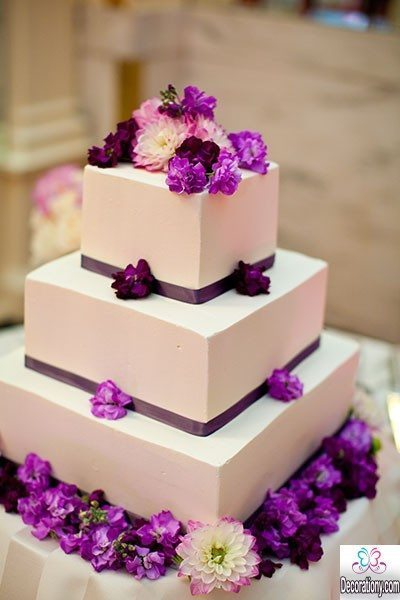 square marriage cake
