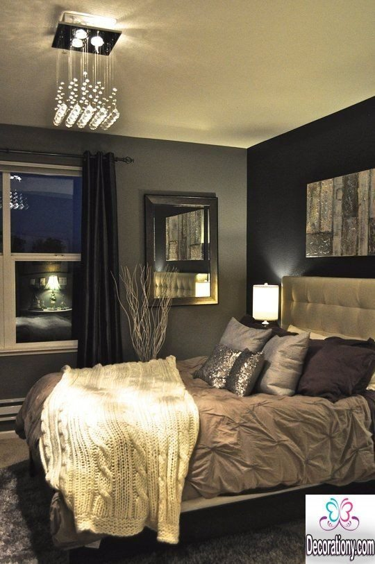 stylish gray bedroom