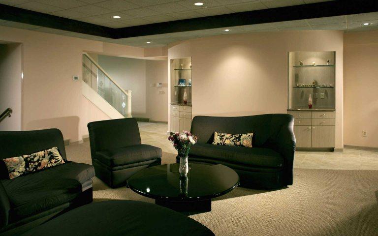 Living room furniture sets in black