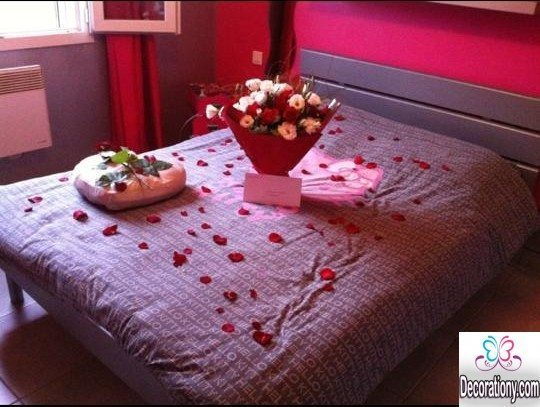 valentine's day decor for bed