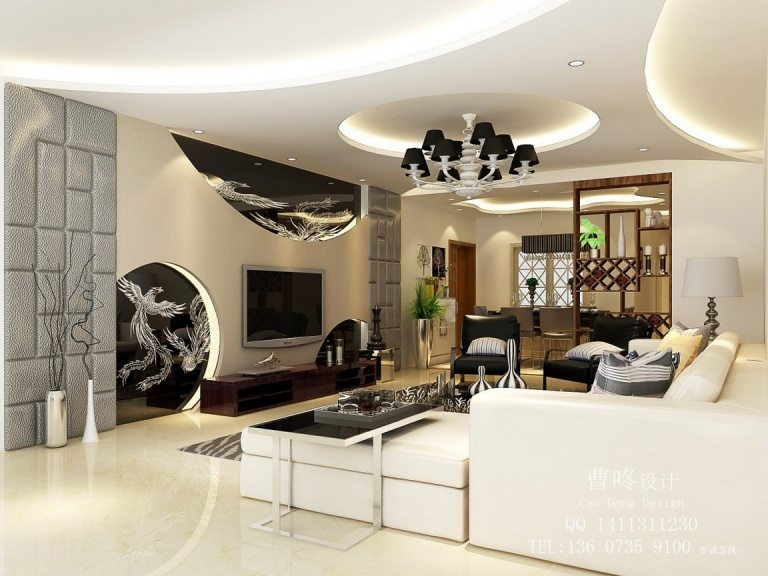 Black-and-white living room colors