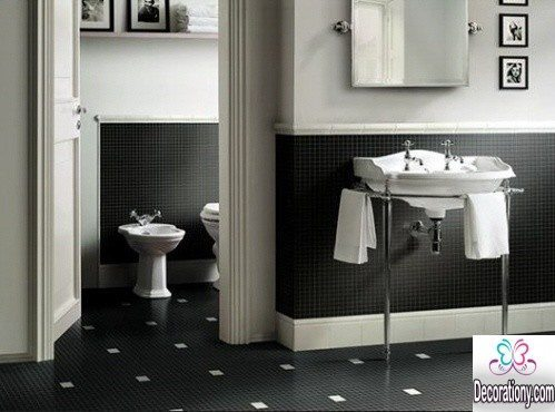 Black and White Bathroom floor