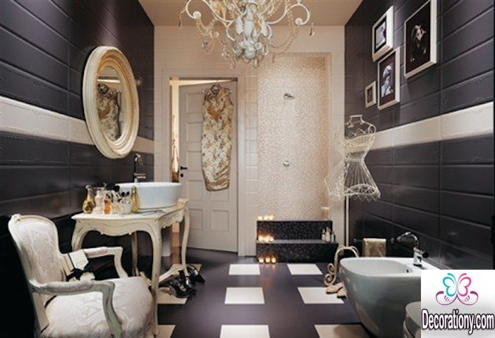 Black and White Bathroom image