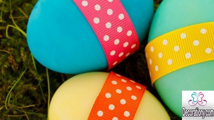 Easter Egg with Strips