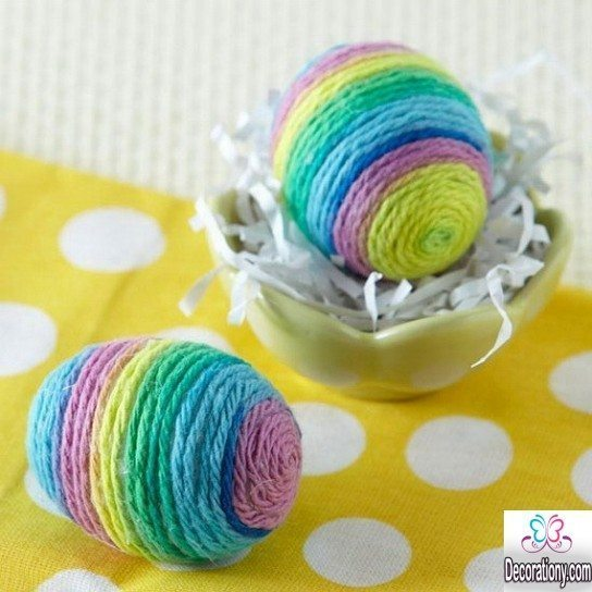 Easter Egg Decorating Ideas with threads