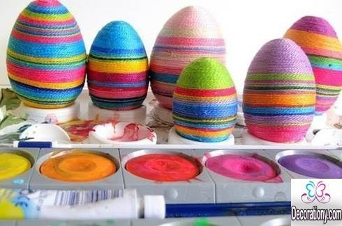 Egg Decorating with threads