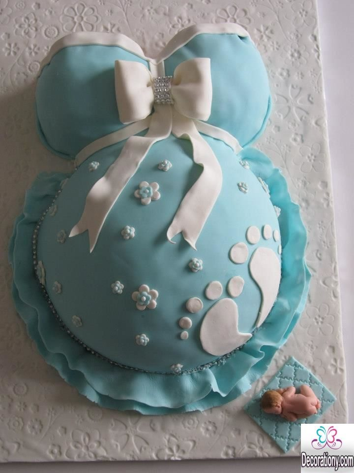 13 easy cake decorating ideas for baby shower decoration y for Baby cakes decoration ideas