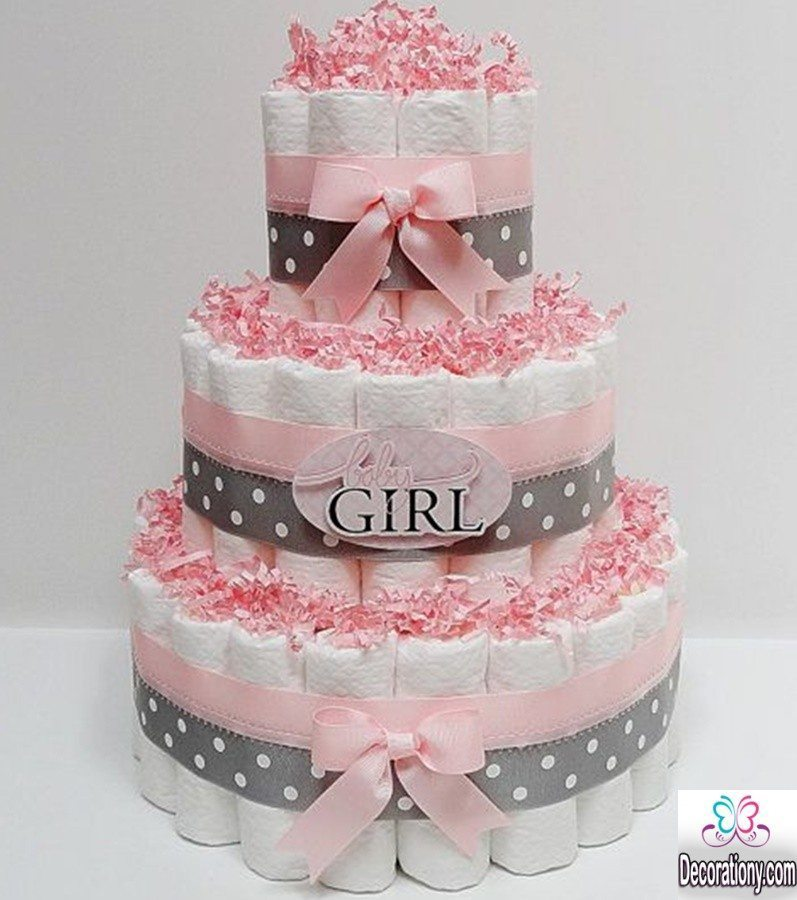 baby shower cake decorating ideas for girls
