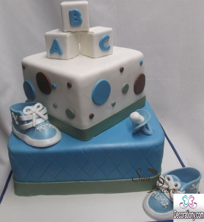 13 easy cake decorating ideas for baby shower decoration y for Baby boy decoration