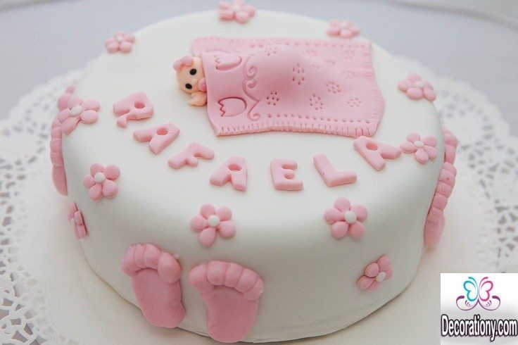 Cake Ideas For A Baby Girl : 13 Easy cake decorating ideas for baby shower - Decoration Y