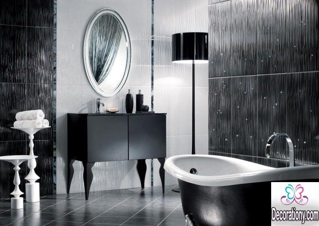 luxury balck & white bathroom