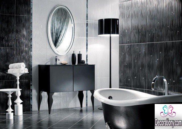 luxury balck & white bathroom