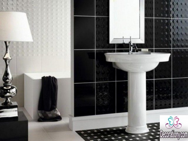 black & white bathroom decoration