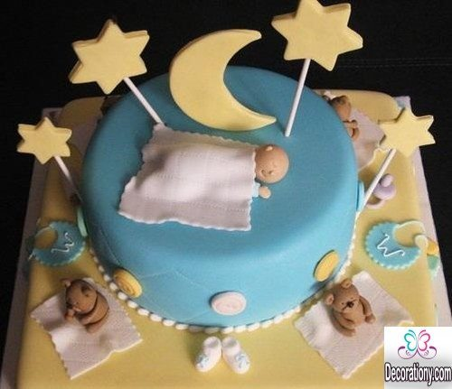 13 easy cake decorating ideas for baby shower decoration y - Ideeen deco kamer baby boy ...