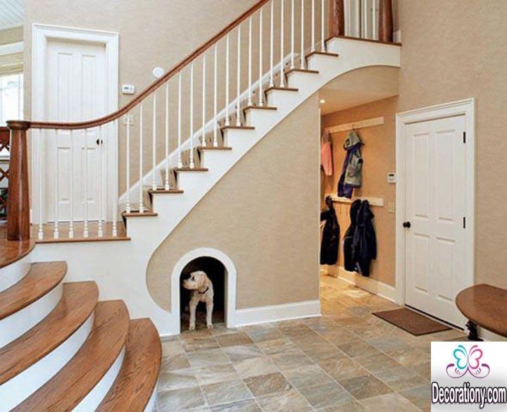 cool under stairs decoration