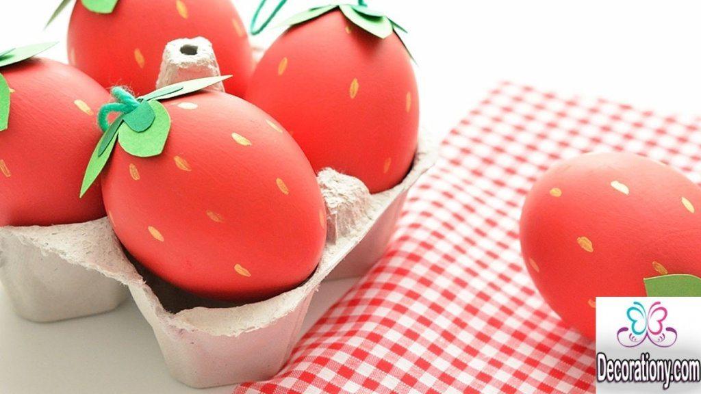 strawberry egg decoration ideas