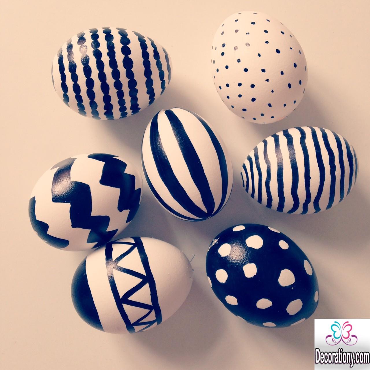 black & white egg decorating
