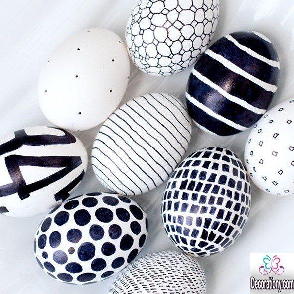 black and white egg hunt