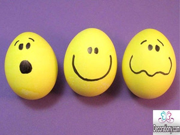 egg hunt as faces