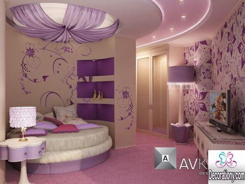 feninine purple bedroom ideas
