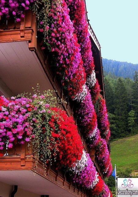 flowerd balcony design