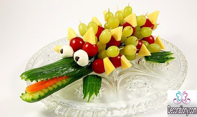 Top 15 pretty fruit decoration ideas for your kids food for Apples decoration