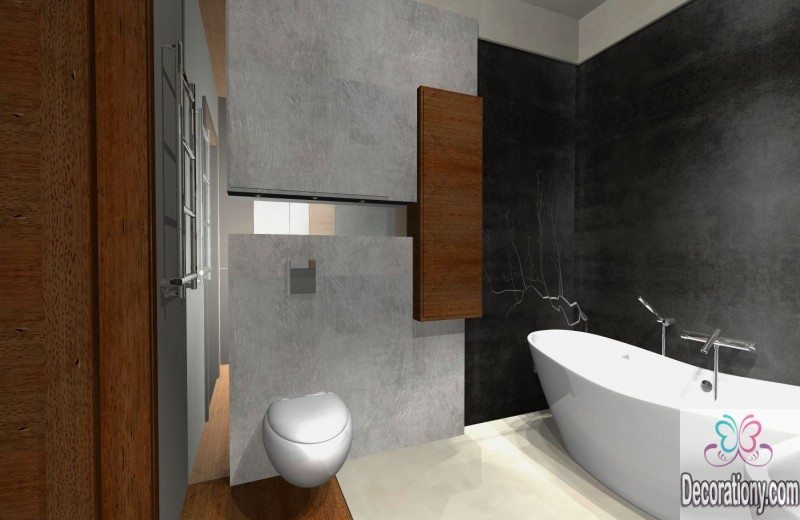 20 luxury small bathroom design ideas 2017 2018 bathroom for Toilet and bath design small space